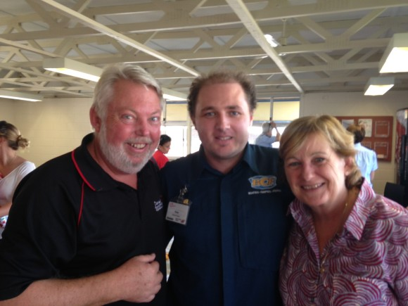 Kane with Denise and Bruce Morcombe